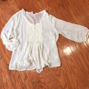 Sheer Peasant Blouse